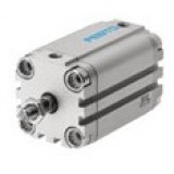 Festo Pneumatic Compact, short stroke and flat cylinder with pistion rod ADVU, AEVU, metric
